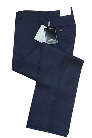 Bradley Midnight Navy Luxury Wool Blend Suit Pants - 28 / 30