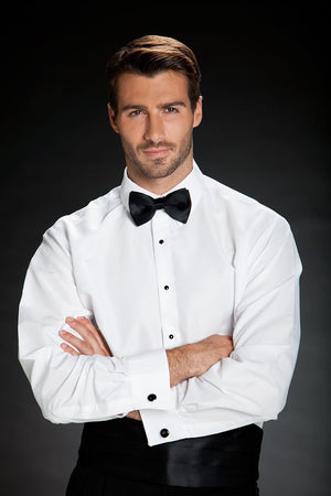Como White Laydown Tuxedo Classic Fit Shirt - Camisa