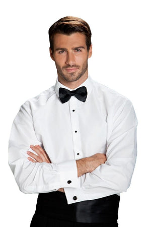 Como White Laydown Tuxedo Classic Fit Shirt - XS / 30-31 -