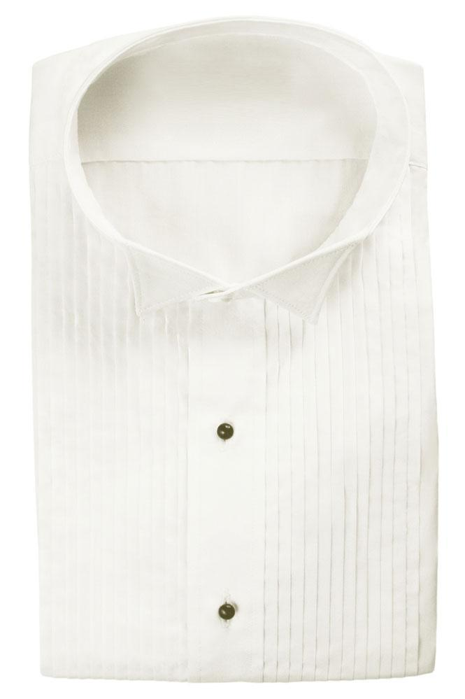 Dante Ivory Pleated Wingtip Tuxedo Classic Fit Shirt - XS /
