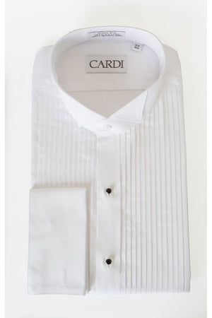 David White Wingtip Tuxedo Shirt - 14.5 / 32-33 / Modern -