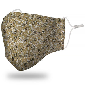 Face Mask Adult - Bandana Light Brown - Face Mask