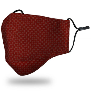 Face Mask Adult - Lattice Red - Face Mask