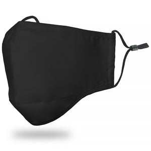 Face Mask Adult - Solid Black - Face Mask
