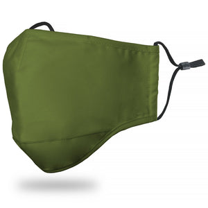 Face Mask Adult - Solid Olive - Face Mask