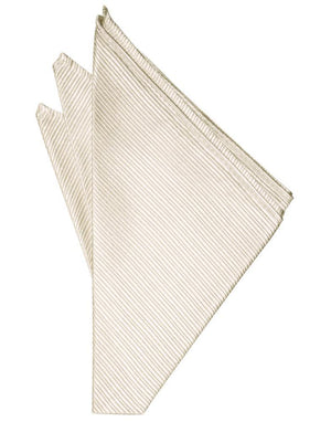 Faille Silk Pocket Square - Ivory - Pañuelo Caballero