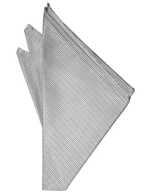 Faille Silk Pocket Square - Silver - Pañuelo Caballero