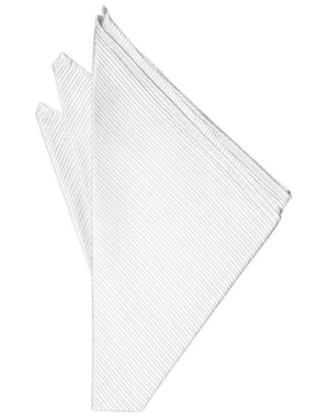 Faille Silk Pocket Square - White - Pañuelo Caballero