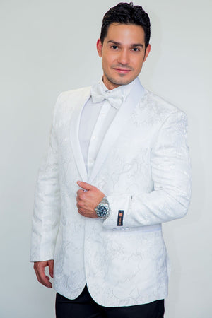 Havana Tuxedo Jacket Shawl - 34S / White - Venta Smoking