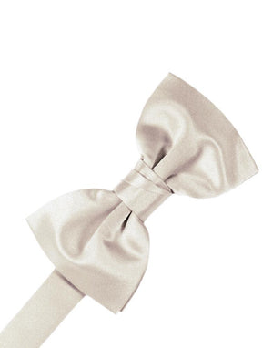 Luxury Satin Bow Tie - Angel - corbatin caballero