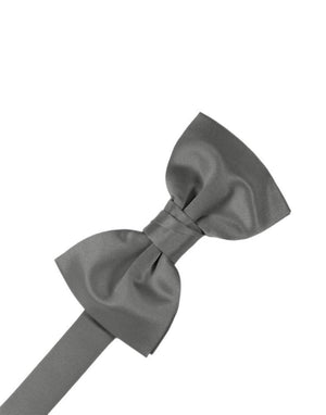 Luxury Satin Bow Tie - Charcoal - corbatin caballero
