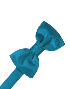 Luxury Satin Bow Tie - Pacific - corbatin caballero
