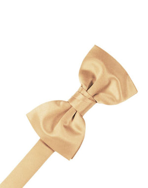Luxury Satin Bow Tie - Peach - corbatin caballero