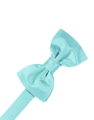 Luxury Satin Bow Tie - Pool - corbatin caballero