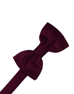 Luxury Satin Bow Tie - Wine - corbatin caballero