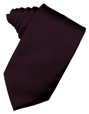 Luxury Satin Necktie Self Tie - Berry - corbata Caballero