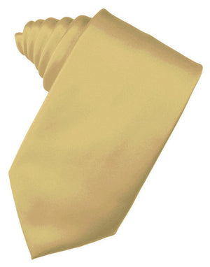 Luxury Satin Necktie Self Tie - Harvest Maize - corbata