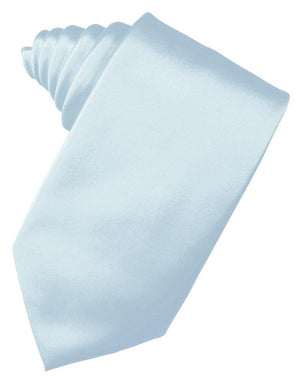 Luxury Satin Necktie Self Tie - Light Blue - corbata