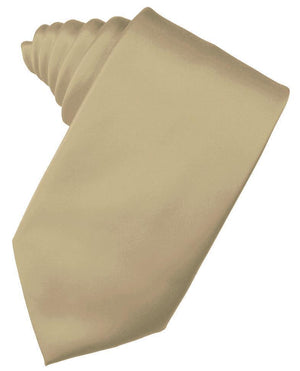 Luxury Satin Necktie Self Tie - New Gold - corbata Caballero