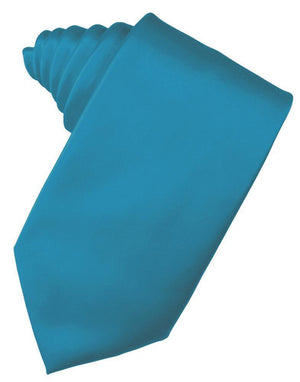 Luxury Satin Necktie Self Tie - Pacific - corbata Caballero