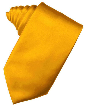 Luxury Satin Necktie Self Tie - Tangerine - corbata