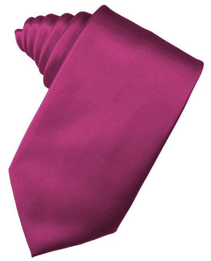 Luxury Satin Necktie Self Tie - Watermelon - corbata