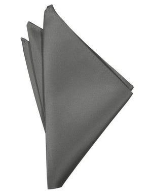 Luxury Satin Pocket Square - Charcoal - Pañuelo Caballero