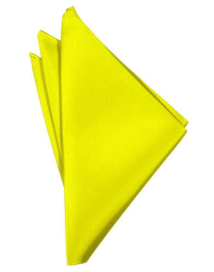 Luxury Satin Pocket Square - Lemon - Pañuelo Caballero