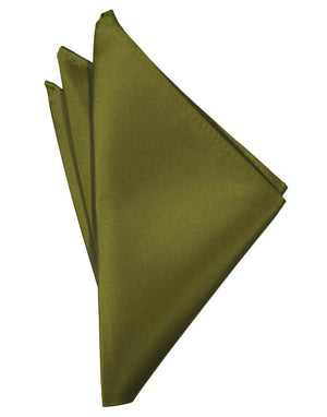 Luxury Satin Pocket Square - Moss - Pañuelo Caballero
