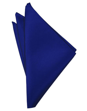 Luxury Satin Pocket Square - Royal Blue - Pañuelo Caballero