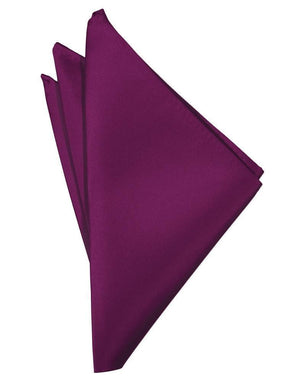 Luxury Satin Pocket Square - Sangria - Pañuelo Caballero