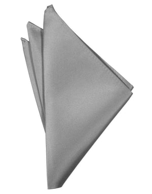 Luxury Satin Pocket Square - Silver - Pañuelo Caballero