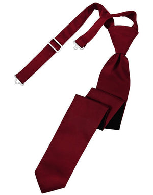 Luxury Satin Skinny Necktie Pre-Tied - Apple - corbata