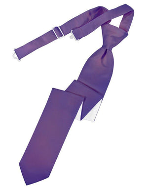 Luxury Satin Skinny Necktie Pre-Tied - Freesia - corbata