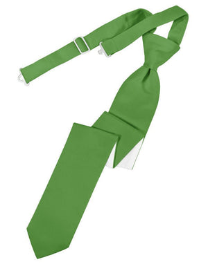 Luxury Satin Skinny Necktie Pre-Tied - Kelly - corbata