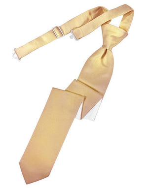 Luxury Satin Skinny Necktie Pre-Tied - Peach - corbata