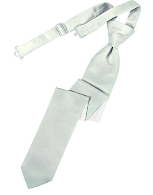 Luxury Satin Skinny Necktie Pre-Tied - Sea Glass - corbata
