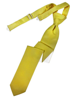 Luxury Satin Skinny Necktie Pre-Tied - Willow - corbata