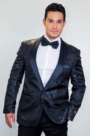 Monte Carlo Tuxedo Jacket Shawl - S / Black - Venta Smoking