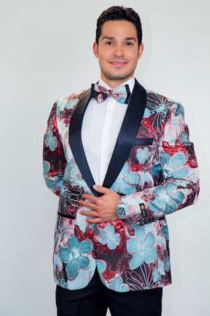 Monte Carlo Tuxedo Jacket Shawl - S / Red - Venta Smoking
