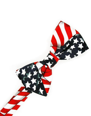Novelty Bow Tie - Waving Flags - corbatin caballero