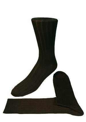 Ribbed Formal Socks - Black - Calcetines Caballero