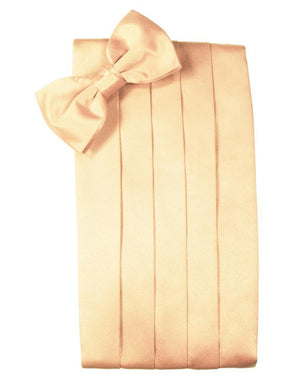 Set Luxury Satin Cummerbund & Bow Tie - Apricot - Faja