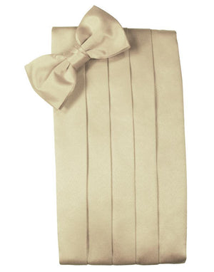 Set Luxury Satin Cummerbund & Bow Tie - Bamboo - Faja