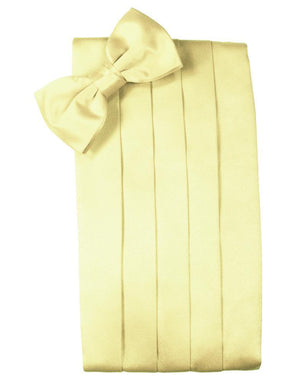 Set Luxury Satin Cummerbund & Bow Tie - Banana - Faja