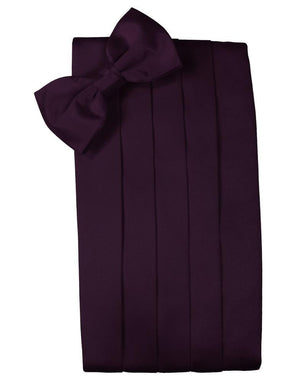 Set Luxury Satin Cummerbund & Bow Tie - Berry - Faja