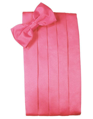 Set Luxury Satin Cummerbund & Bow Tie - Bubblegum - Faja