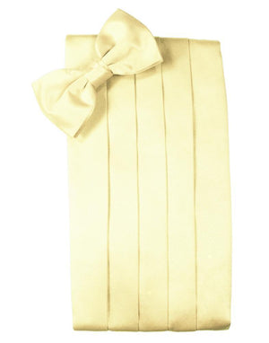 Set Luxury Satin Cummerbund & Bow Tie - Canary - Faja