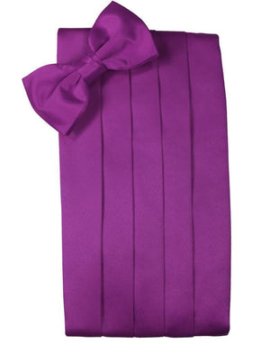 Set Luxury Satin Cummerbund & Bow Tie - Cassis - Faja