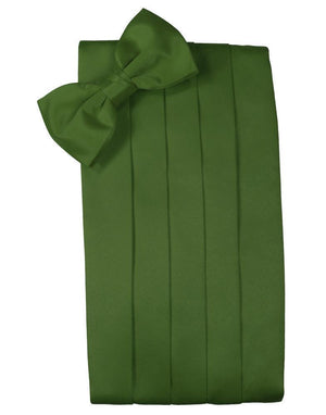 Set Luxury Satin Cummerbund & Bow Tie - Clover - Faja